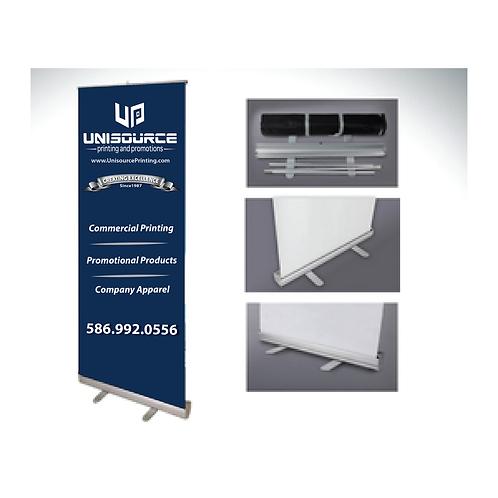 "VINYL Standard Retractable Banner Stand 33"" x 81"""