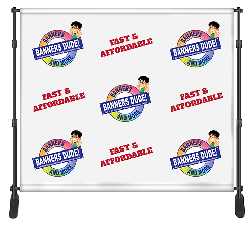 Backdrop (Step and Repeat Banner) - 10ft x 8 ft -  FABRIC