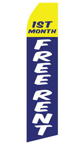 Stock First Months Free Rent Feather Flag