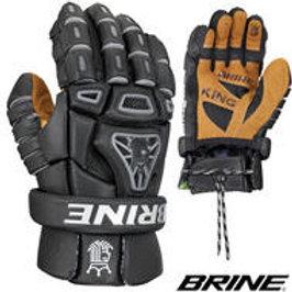 BRINE King IV Black Lacrosse Gloves- Sr '14