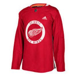 ADIDAS NHL Authentic Pro Detroit Practice Jersey- Sr
