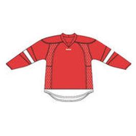 Detroit 25P00 Edge Gamewear Jersey (Uncrested) - Red- Senior