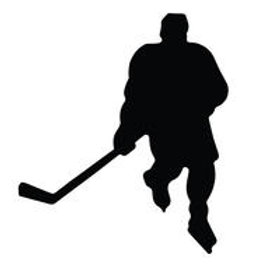A&R Hockey Player Magnet Decal