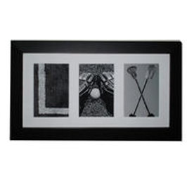 PAINTED PASTIMES LAX Montage Framed