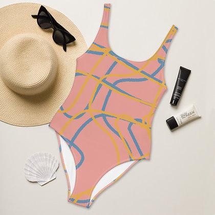 One-Piece Swirls Swimsuit
