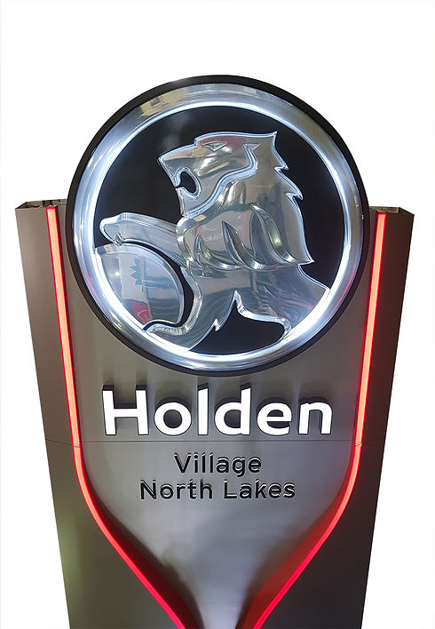 New Holden sign, developed exclusively by Décor Engineering