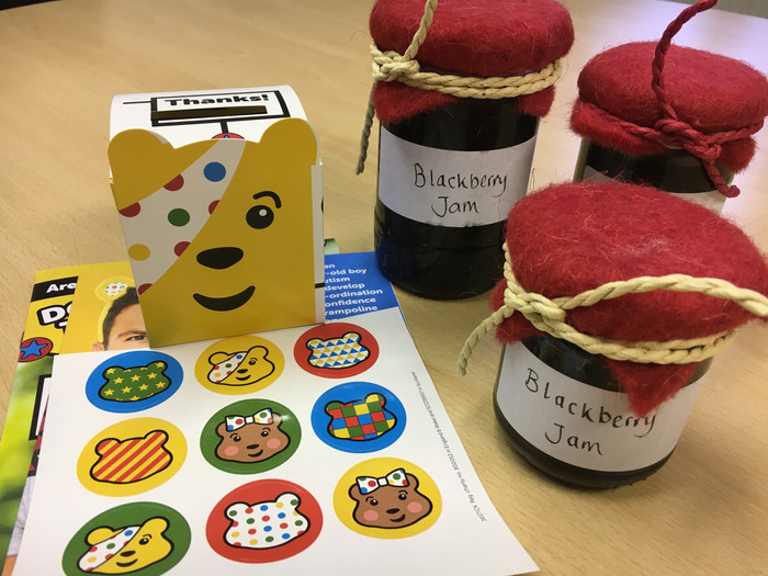 Cakes and jam for Children In Need!