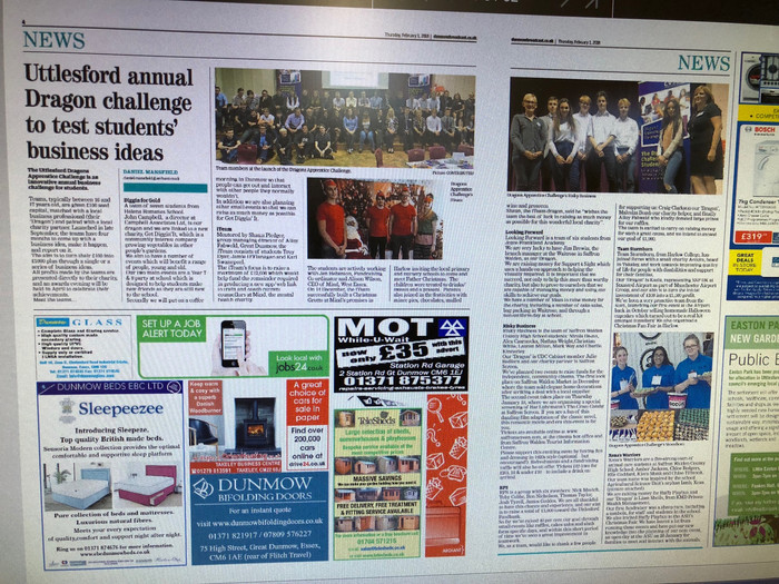 Supporting CVSU's Dragon Apprentice Challenge in Essex