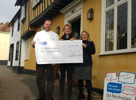 £10,000 for St Nicholas Hospice!