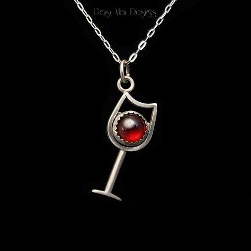 #1221 - Red Wine Glass