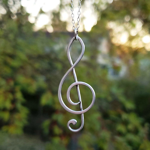 Sterling Silver Treble Clef