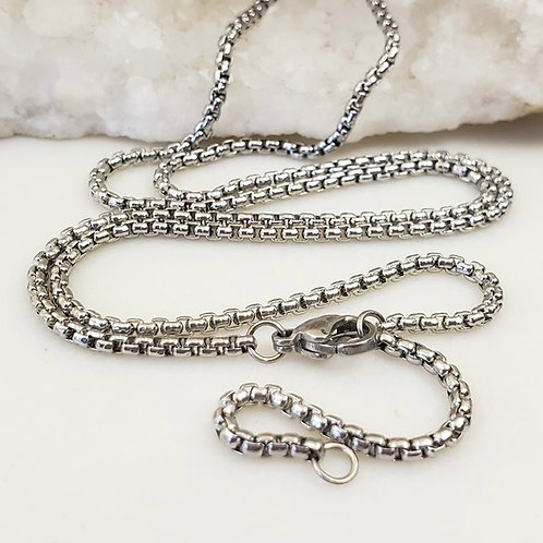 Stainless Steel 2mm Rounded Box Chain