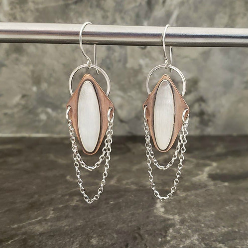 Mixed Metal Earrings (E7)