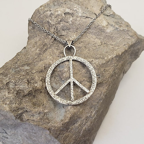 Hammer textured PEACE sign