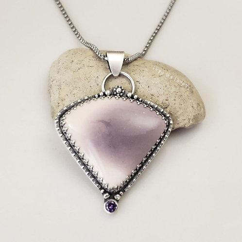 Lavender Mookaite / Amethyst cz