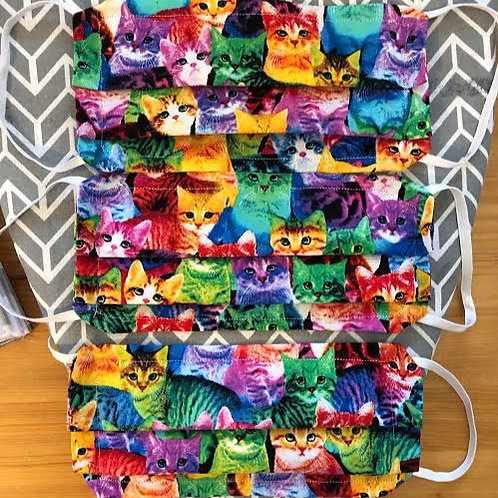 Rainbow Cat Face Mask