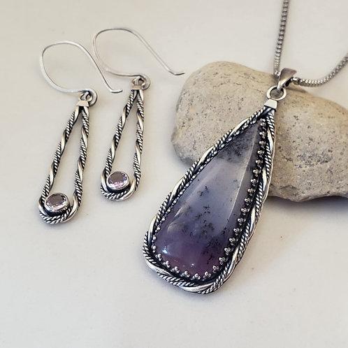Amethyst Sage / Amethyst earrings SET