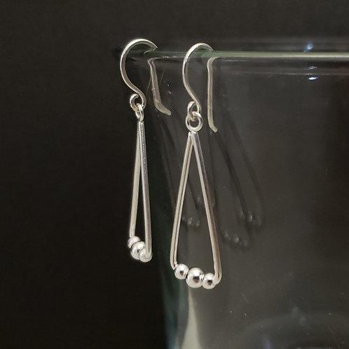 Elongated Triangle earrings