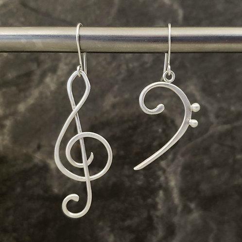 Treble Bass Cleff earrings (E21)