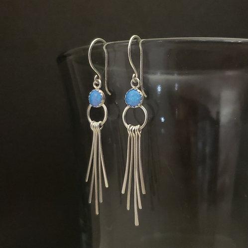 Bello opal / Fringe earrings