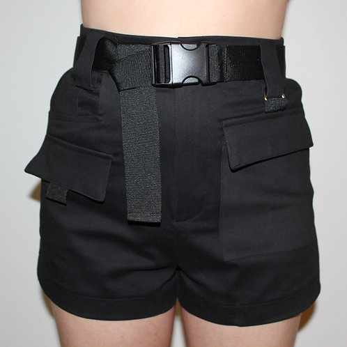 (K)impossible Belted Shorts