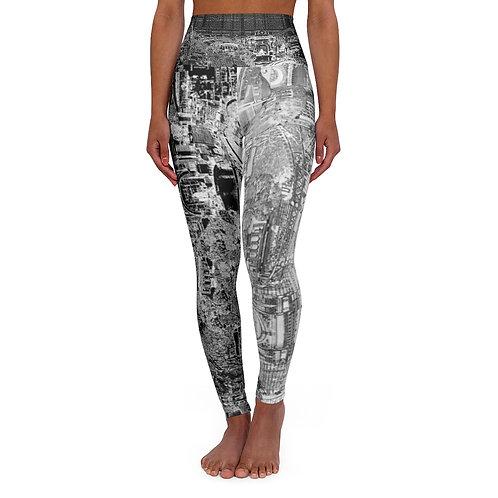 YINYANG 2 INTERSECTION design by OREWILER - High Waisted Yoga Leggings