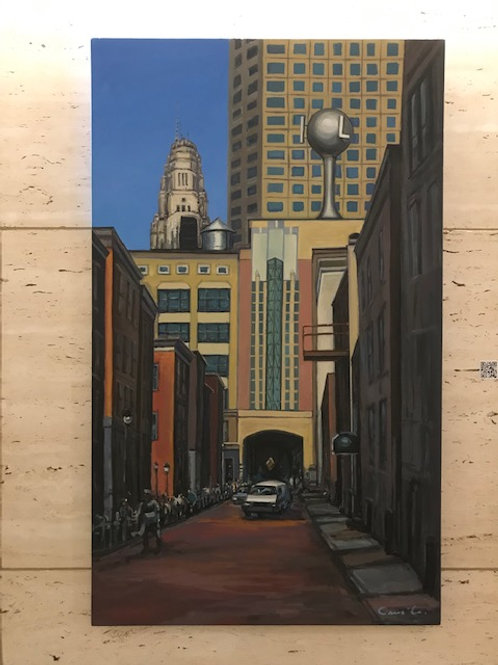 Lazarus Leveque Alley painting