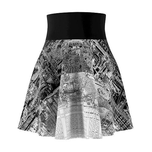 YINYANG sk8 skirt INTERSECTION design by OREWILER - Women's Skater Skirt