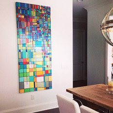 New 7ft x 3ft Orewiler Metro painting in private collection