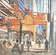 4 paintings selected for The Urban Landscape at the Riffe Gallery Nov-Jan 2015