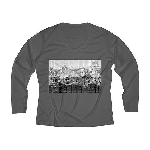 INTERSECTION design by OREWILER - Women's Long Sleeve Performance V-neck Tee