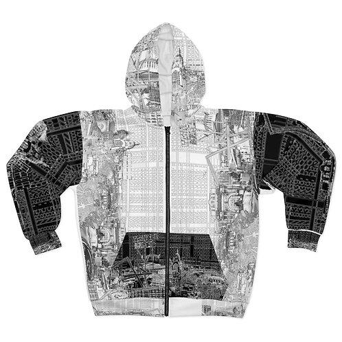 BUSTA YINYANG -INTERSECTION hoodie by OREWILER - AOP Unisex Zip Hoodie