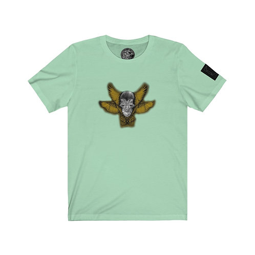 SKULL WINGS - design by OREWILER - Unisex Jersey Short Sleeve Tee