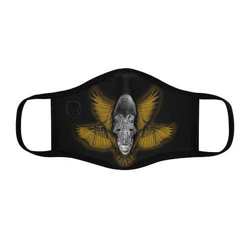 SKULL WINGS mask design by OREWILER - Fitted Polyester Face Mask