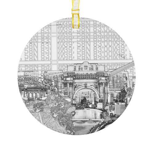 UNION STATION/ CMA/RIVERFRONT design by OREWILER - Holiday Glass Ornament