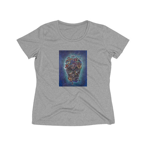 ATOM & EVE design by OREWILER - Women's Heather Wicking Tee