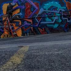 Orewiler creates his first street mural 12ft x 40ft