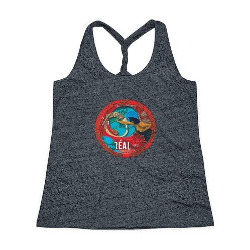 REAL' design by OREWILER - Women's Cosmic Twist Back Tank Top