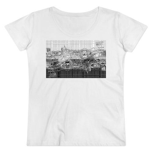 YINYANG INTERSECTION design by OREWILER - Organic Women's Lover T-shirt