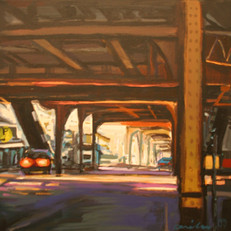 """""""Street Level"""" New cityscapes by Orewiler and Thompson at Hayley Gallery"""
