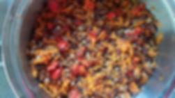 תבשיל קינואה עדשים וירקות