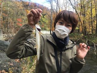 渓流釣りを満喫!
