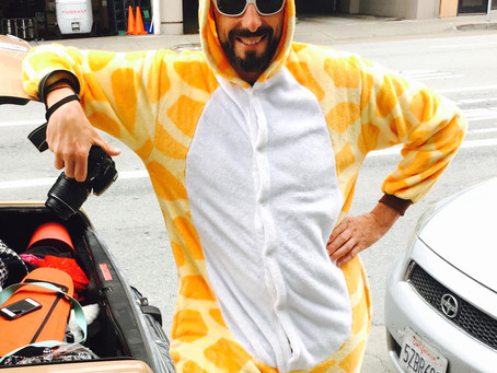 Happiest giraffe in San Francisco