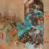 REINTEGRACION Acrilico, viruta de metal sobre tela 70X70 cms 2.jpg