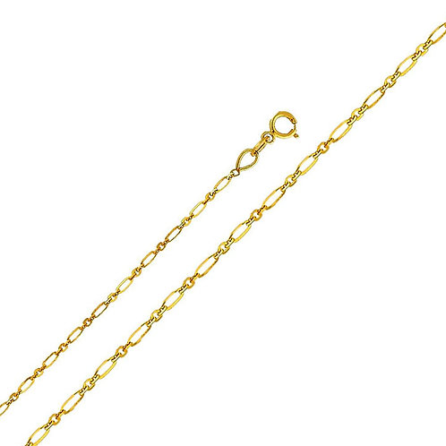 14k Yellow Gold 1.3-mm Open Link Chain Necklace
