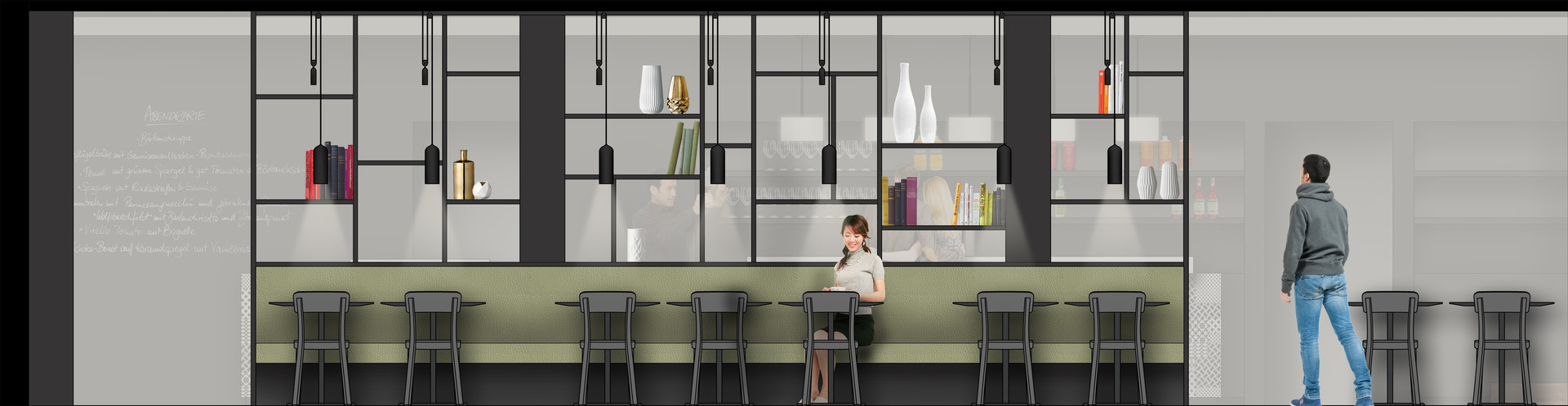 Barmade Innenarchitektur - Planungsphase für Brasserie Löwen