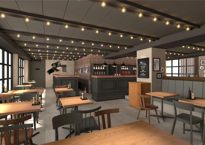 Barmade Innenarchitektur - Planungsphase Pizzeria Tell