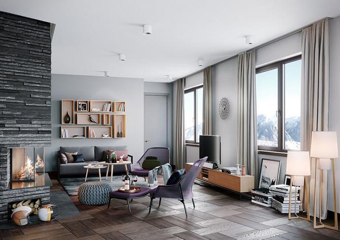 Swiss Alps Alpenrose Appartment Wohnraum