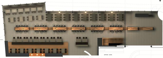 Barmade Innenarchitektur - Planungsphase Gotthard Raststätte