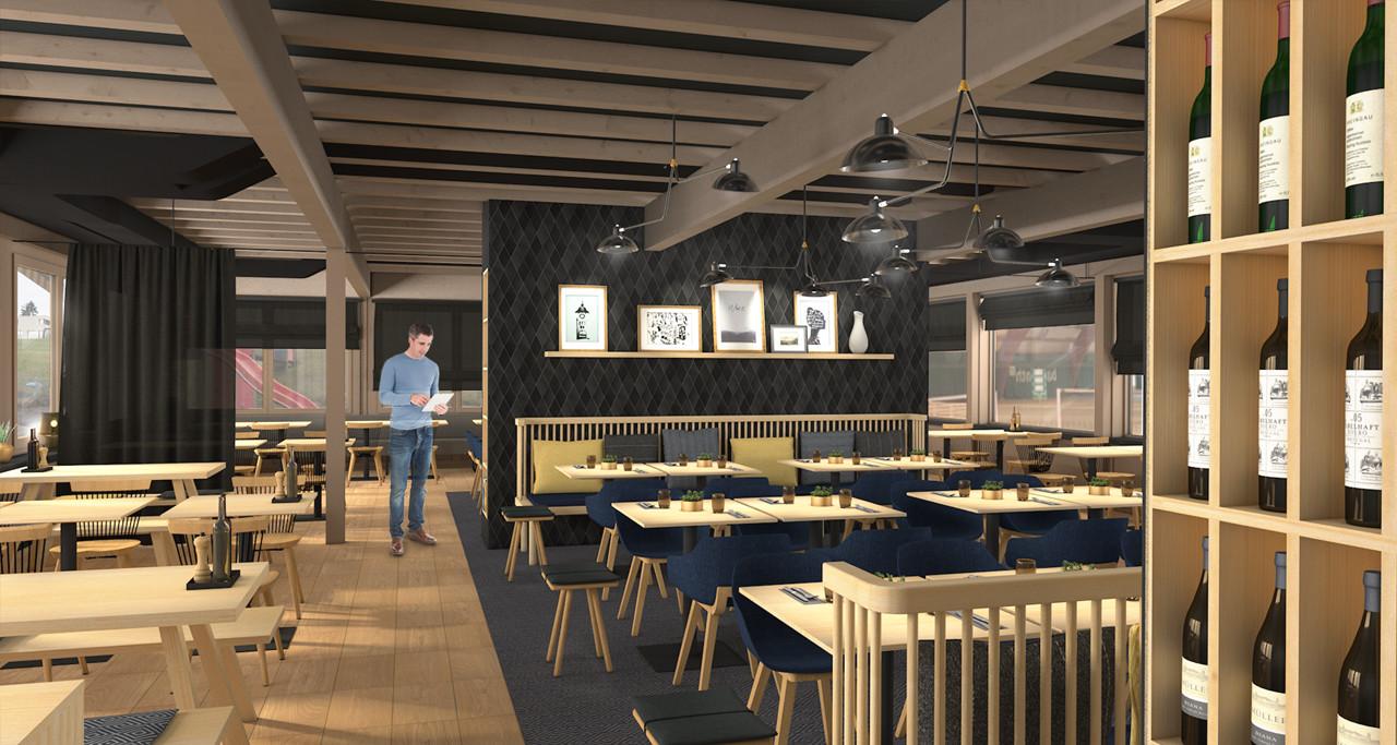 Barmade Innenarchitektur - Planungsphase Restaurant Schlossfeld